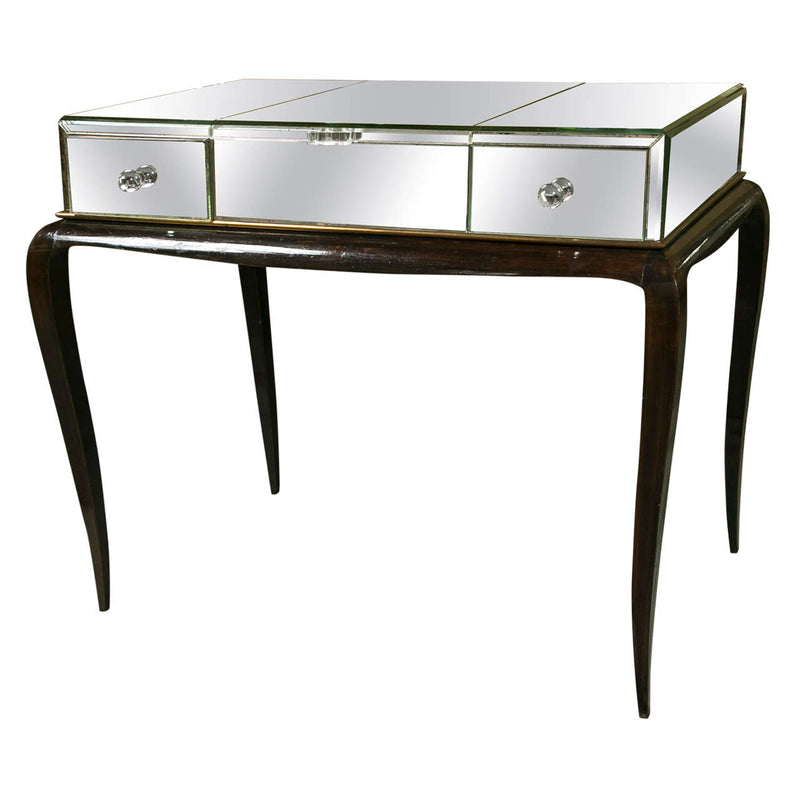 Art Deco Mirror and Ebonzed Flip Top Desk