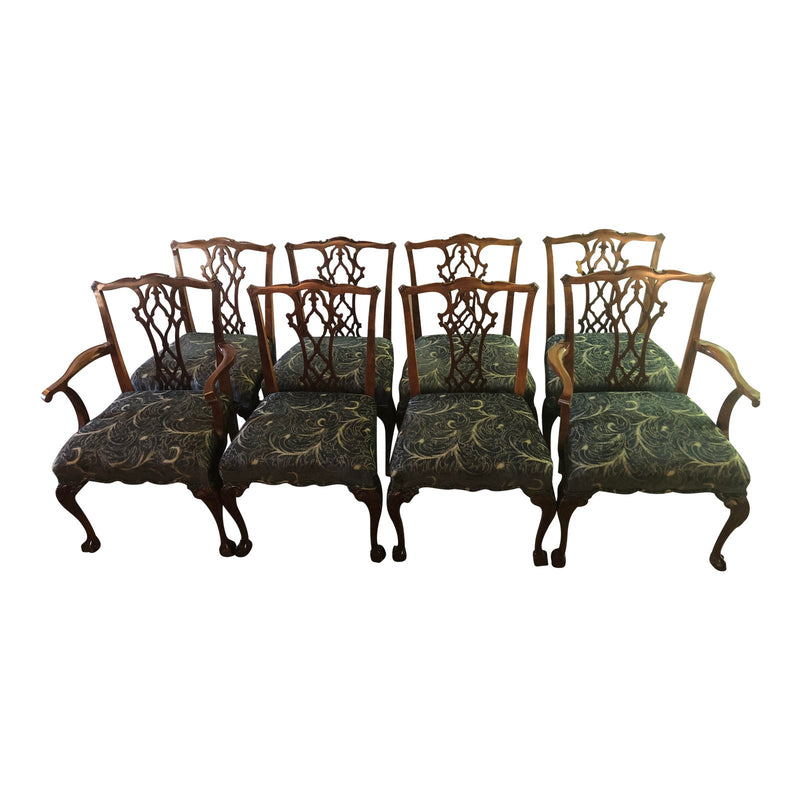 Chippendale Georgian Style Dining Chairs - Set of 8