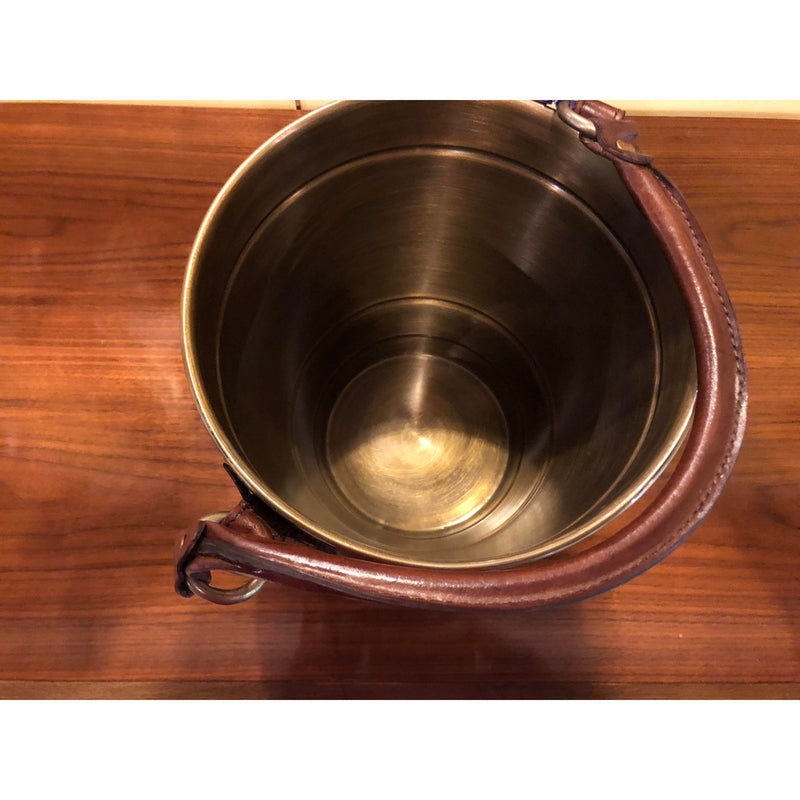 Leather Handle Champagne Ice Bucket