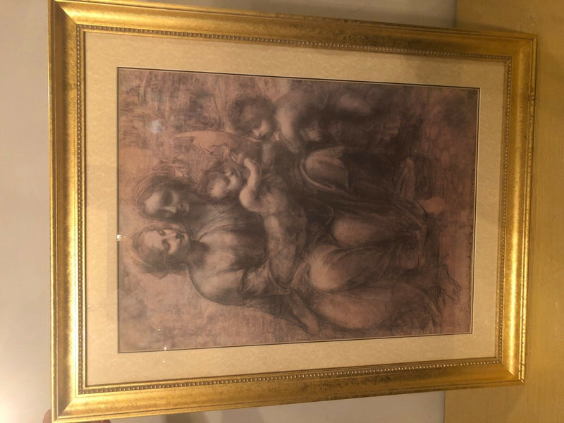 An Etching Matted Underglass in a Gilt Frame
