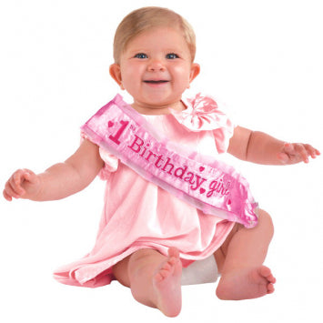 Girl's 1st Birthday Novelty Sash
