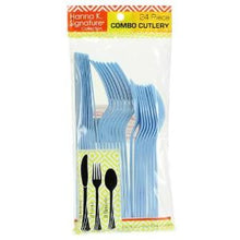 Light Blue Heavyweight Cutlery Combo 24 Count (Case Qty: 576)