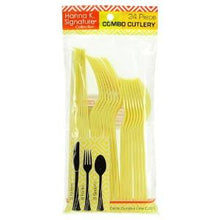Yellow Heavyweight Cutlery Combo 24 Count (Case Qty: 576)