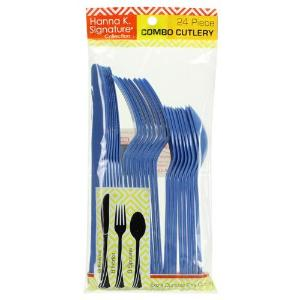 Blue Heavyweight Cutlery Combo 24 Count (Case Qty: 576)