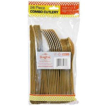 Gold Heavyweight Cutlery Combo, 24 Pack (Case Qty: 576)