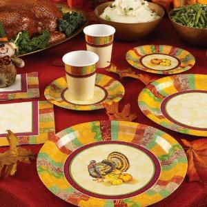 "7"" Fall Turkey Paper Plate 16 Count (Case Qty: 1152)"