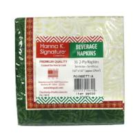 Christmas Poinsettia Beverage Napkin 36 Count (Qty: 2592)