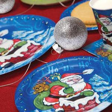 "7"" Christmas Santa Paper Plate 36 Count (Case Qty: 1296)"