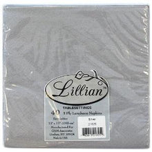 Solid Silver Luncheon Paper Napkins 40 Ct (Case Qty: 960)