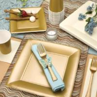 Solid Gold Beverage Paper Napkins (Qty: 960)