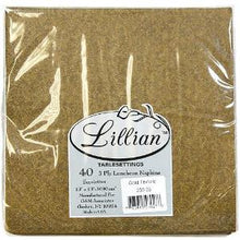 Texture Gold Luncheon Paper Napkins 40 Ct (Case Qty: 960)