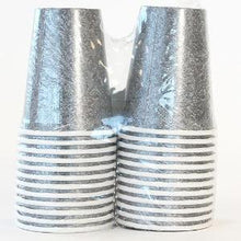 Silver Texture 9oz Hot/Cold Paper Cup 24 Ct. (Case Qty: 576)