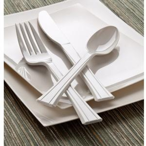 Sahara Premium Plastic Cutlery Combo - 24 Count (Case Qty: 576)