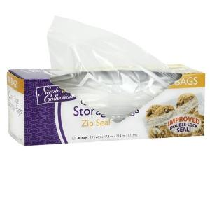 Quart - Zip Seal Bags - 40 Count (Case Qty: 1920)