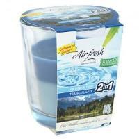 Morn Dew & Tranquil Lake Combo Candle in Glass Jar 3oz (Case Qty: 12)