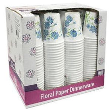 Blue Everyday Floral 12oz Paper Cup (Case Qty: 288)