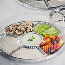 "Aluminum 18"" Lazy Susan/Compartment Platter (Case Qty: 25)"