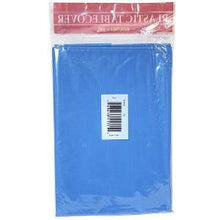 "84"" Medium Blue Round Plastic Tablecover 36 Count (Case Qty: 36)"