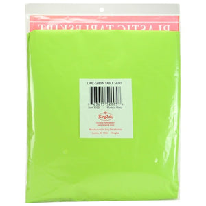 "29"" X 14'' Plastic Tableskirt - Lime Green (Case Qty: 36)"