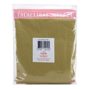 "29"" X 14'' Gold Plastic Tableskirt 36 Count (Case Qty: 36)"