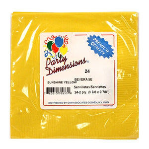 Sunshine Yellow Beverage Napkins 24 Count (Qty: 720)