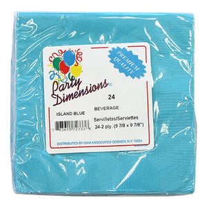 Island Blue Beverage Napkins 24 Count (Qty: 864)