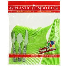 Lime Green Plastic Combo Cutlery 48 Count (Case Qty: 2304)