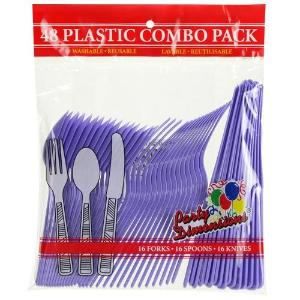 Hydrangea Plastic Combo Cutlery 48 Count (Case Qty: 2304)