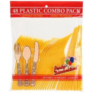 Sunshine Yellow Combo Cutlery 48 Count (Case Qty: 2304)