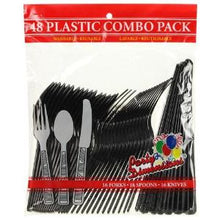 Black Combo Cutlery 48 Count (Case Qty: 2304)