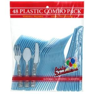 Light Blue Combo Cutlery 48 Count (Case Qty: 2304)