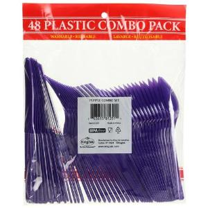 Purple Combo Cutlery 48 Count (Case Qty: 2304)