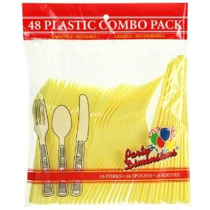 Yellow Combo Cutlery 48 Count (Case Qty: 2304)