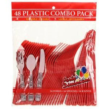 Red Combo Cutlery 48 Count (Case Qty: 2304)