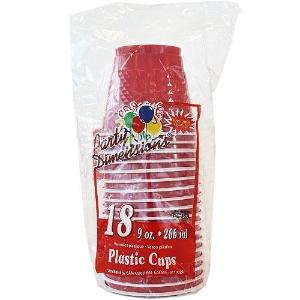 9 oz. Plastic Co-Ex Cup - Red - 18 Count (Case Qty: 648)