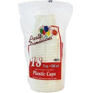 9 oz. Plastic Co-Ex Cup - Ivory - 18 Count (Case Qty: 648)