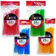 Neon Multi-Color Plastic Combo Cutlery 24 Count (Case Qty: 864)