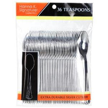 Polished Silver Plastic Teaspoons 36 Count (Case Qty: 864)