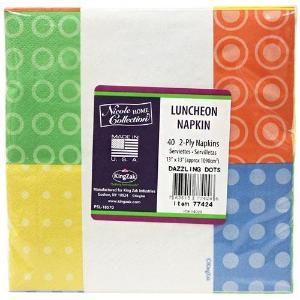 Dazzling Dots Luncheon Napkin 40 Count (Case Qty: 1440)