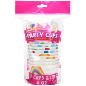 8 oz. Party Cups with Lids, 10 ct (Case Qty: 240)