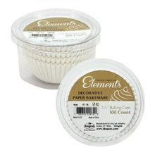 "Elements - 1.5"" Mini Baking Cups - White - 100 Count (Case Qty: 2400)"