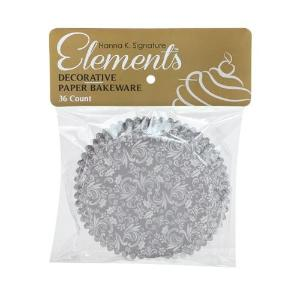 "Elements - 3"" Self-Standing Baking Cups - Silver - 36 Count (Case Qty: 432)"