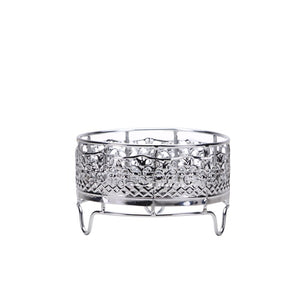 Decorative Container Holder - Small - Polished Silver (Case Qty: 36)