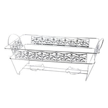 Decorative Chafing Rack - Polished Silver (Case Qty: 12)