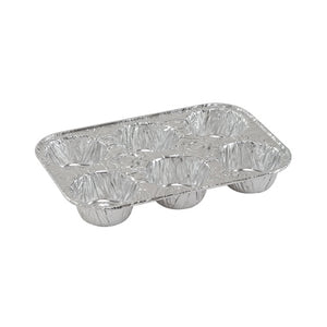 Banded - 6-Cavity Aluminum Muffin Pan - 4 Count (Qty: 192)