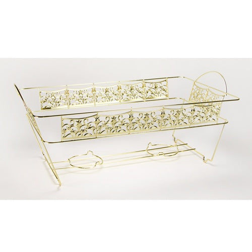 Decorative Chafing Rack - Full Size - Gold (Case Qty: 12)