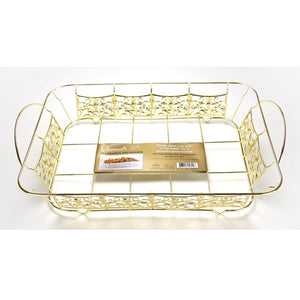 Decorative Pan Holder - Roaster Size - Gold (Case Qty: 12)