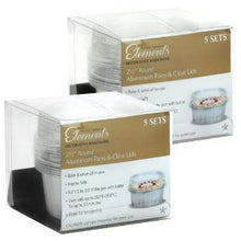 "Elements - 2.5"" Aluminum Pans with Lids - Round - Silver (Case Qty: 180)"