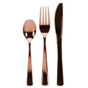 Cutlery - Polished Rose Gold - Combo - Acetate Box - 96 Count (Case Qty: 576)