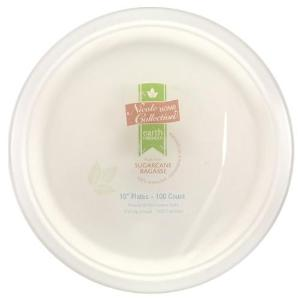 "Sugar Cane - Earth Friendly - 10"" Plate (Case Qty: 600)"